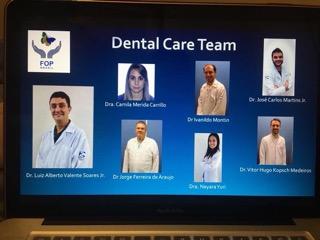 Foto da equipe odontológica